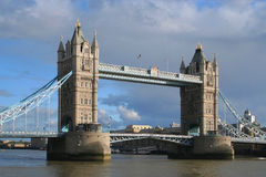 Tower Bridge across the river Thames Royalty Free Stock Images