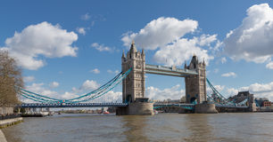 Tower Bridge from Along the River Thames Royalty Free Stock Image