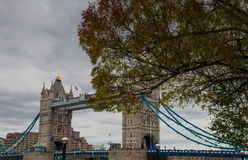 Tower Bridge in Autumn Stock Images