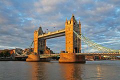 Tower bridge. At beautiful sunset, london, england, united kingdom Stock Photos
