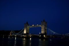 Tower Bridge. Beautifully illuminated Tower Bridge in London Stock Photos