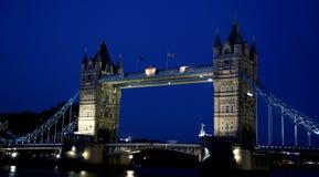 Tower Bridge. Beautifully illuminated Tower Bridge in London Stock Photography