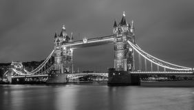 Tower Bridge Black and White Royalty Free Stock Image
