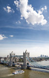 Tower Bridge and boat Stock Photography