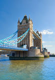 Tower Bridge on a bright sunny day in Spring, London, UK Royalty Free Stock Image