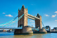 Tower Bridge on a bright sunny day in Spring, London, UK Royalty Free Stock Photography