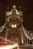 Tower Bridge. Bus driving throw Tower Bridge, London Royalty Free Stock Photo