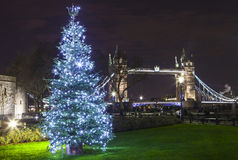 Tower Bridge at Christmas Stock Photography