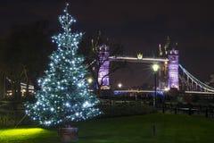 Tower Bridge at Christmas stock photography