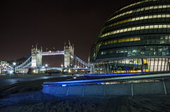 Tower Bridge and City Hall Stock Photography
