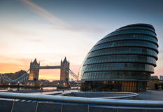 Tower Bridge & City Hall, London Stock Photography