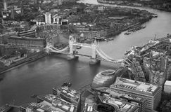 Tower bridge. City of London panorama in sunset. Royalty Free Stock Images