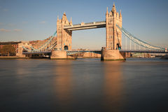 Tower Bridge and the City of London. Tower Bridge, the City of London and the river Thames Royalty Free Stock Photography