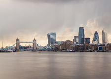 Tower Bridge and the City of London Royalty Free Stock Photos