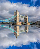 Tower Bridge with clouds in London, England, UK Stock Image