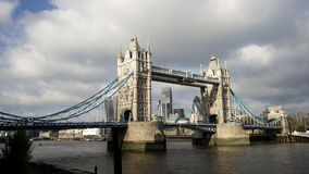 Tower Bridge in cloudy day Royalty Free Stock Images