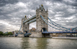 Tower Bridge on a cloudy day Royalty Free Stock Photography