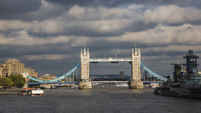 Tower Bridge in the cloudy day Stock Image