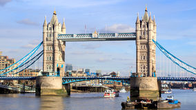 Tower Bridge. A so commonplace scene is watching bridge tower bridge, river and boats in London, it& x27;s just beautiful Stock Photography