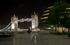 Tower Bridge and County Hall at Night Royalty Free Stock Image