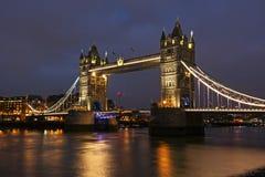 Tower Bridge that crosses River Thames in London stock photo
