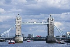Tower bridge crossing London England Royalty Free Stock Image