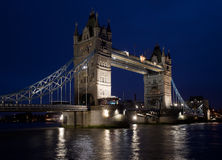 Tower Bridge after Dark Royalty Free Stock Image