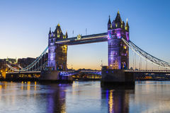 Tower Bridge at Dawn Stock Photo