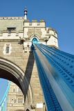 Tower Bridge detail: iron bearing and bas-reliefs. Decorative elements of Tower Bridge in London, with frame railing and bas-reliefs Royalty Free Stock Photos