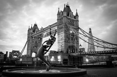 Tower bridge and dolphin Royalty Free Stock Photography
