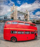 Tower Bridge with double decker bus in London, England, UK Stock Photos