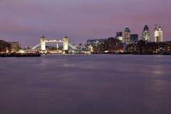 Tower Bridge at dusk Stock Photos