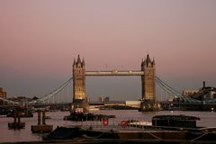 Tower Bridge at dusk Royalty Free Stock Images
