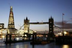 Tower Bridge at dusk Stock Photo