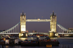 Tower Bridge at dusk Royalty Free Stock Image