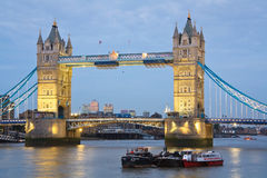 Tower Bridge at dusk. Royalty Free Stock Photography