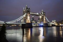 Tower Bridge at dusk Stock Photography