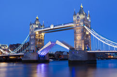 Tower Bridge at Dusk in London Stock Photo