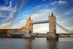 Tower Bridge at dusk Stock Images