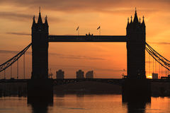 Tower Bridge at dusk ,London United Kingdom Stock Images