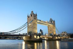 Tower Bridge at Dusk Royalty Free Stock Photography