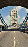 Tower Bridge with empty road Stock Photos