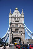 Tower Bridge, end on Stock Photos