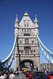 Tower Bridge, end on. London UK stock photos
