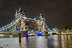 Tower Bridge in the evening, London Royalty Free Stock Image