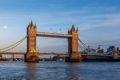 Tower bridge in the evening Stock Image