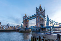 Tower bridge in the evening Royalty Free Stock Photography