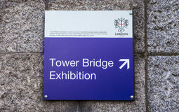 Tower Bridge Exhibition in London Royalty Free Stock Image
