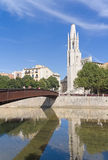 Tower and  bridge. Girona Royalty Free Stock Photo