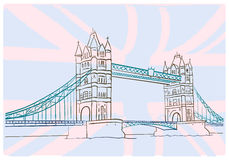 Tower Bridge. Hand draw picture of Tower Bridge. London Royalty Free Stock Images
